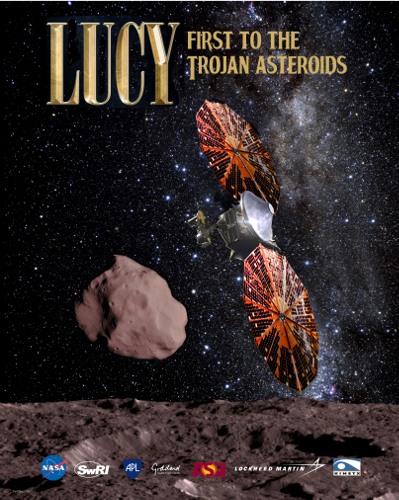 Lucy Flyby Poster