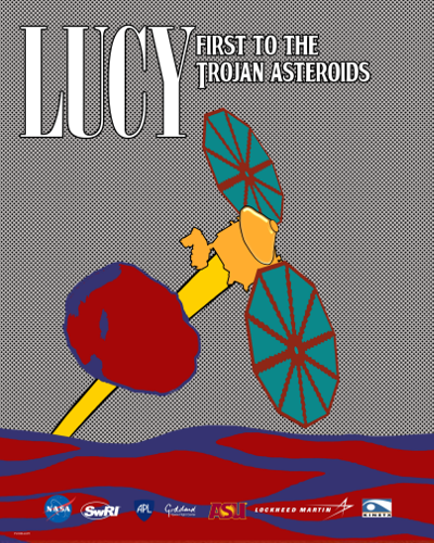 Lucy Flyby Poster in Pop Art Style 2